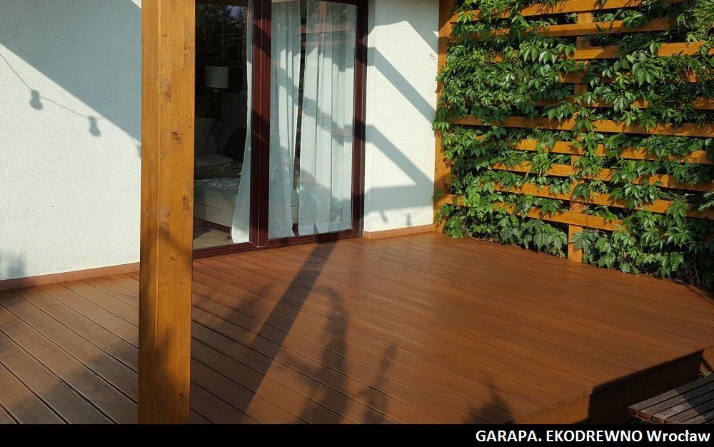 Deska tarasowa z drewna egzotycznego garapa ekodrewno wrocław