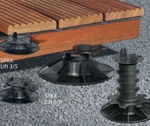 Wsporniki regulowane pod legary tarasowe spax lift ekodrewno wrocław 300x249 px