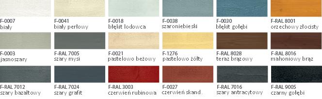 lignucolor24 deska fasadowa z NRO B-s2, d0 (Ekodrewno Wrocław) - paleta kolorów