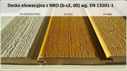 Deska elewacyjna fasadowa z NRO b-s2, d0 paleta kolorów Mocopinus Ekodrewno 2