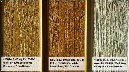 Deska elewacyjna fasadowa z NRO b-s2, d0 paleta kolorów Mocopinus Ekodrewno