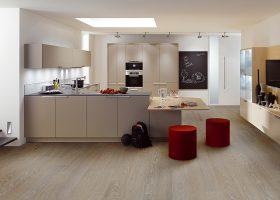 Modern luxury kitchen and dining room interior