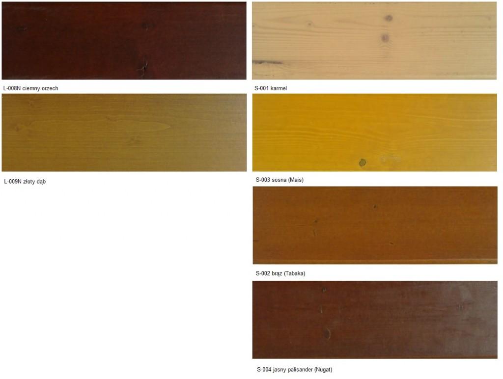 Elewacje drewniane - kolory transparentne - ekodrewno