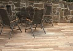Akacja robinia taras drewniany