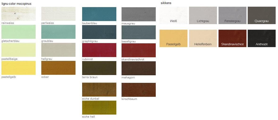 elewacje premium - paleta kolorów kryjących - ekodrewno