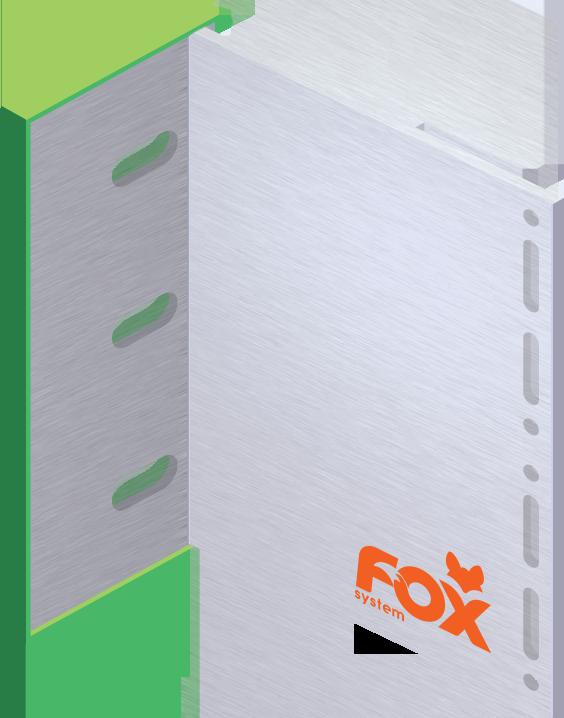 fox system Konsola główna z podkładką izolacyjną, duża, do deski w układzie poziomym